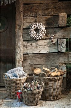 Gardening Autumn - Shed Plans - CASA TRÈS CHIC - Now You Can Build ANY Shed In A Weekend Even If Youve Zero Woodworking Experience! - With the arrival of rains and falling temperatures autumn is a perfect opportunity to make new plantations Winter Porch, Winter Home Decor, Cozy Winter, Winter Cabin, Rustic Charm, Rustic Decor, Rustic Feel, Deco Champetre, Chalet Design