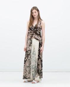 Image 1 of LONG PRINTED TUNIC DRESS from Zara