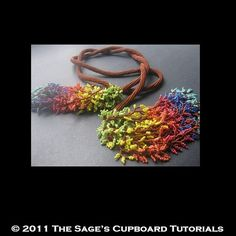 Necklace Beading Tutorial. Leaf Fringe Herringbone Rope Lariat Project for Personal Use op Etsy, $3.80