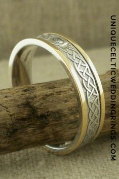 5 mm Celtic Lover's Knot Wedding Ring with Diamond by Boru — Unique Celtic Wedding Rings Celtic Wedding Rings, Wedding Rings For Women, Rings For Men, Celtic Love Knot, Celtic Designs, Round Diamonds, Knots, Cuff Bracelets, Engagement Rings