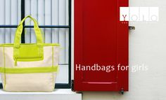 Handbags for girls made from canvas