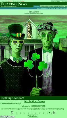 Irish American Gothic Painting