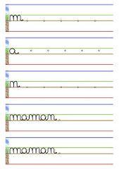 Cahier d'écriture - bonne fête maman