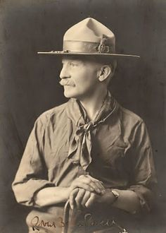 Man Week continues here at OPOD, and today we recognize General Robert Baden-Powell. Robert Baden Powell, Les Scouts, Girl Scouts, Baden Powell Scouts, Scout Books, Wood Badge, Ghost In The Machine, Eagle Scout, Thinking Day