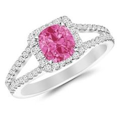 https://ariani-shop.com/09-carat-classic-double-row-pave-set-split-shank-diamond-engagement-ring-14k-gold-with-a-05-carat-cushion-cut-aaa-quality-pink-sapphire-heirloom-quality 0.9 Carat Classic Double Row Pave Set Split Shank Diamond Engagement Ring  14K Gold with a 0.5 Carat Cushion Cut AAA Quality Pink Sapphire (Heirloom Quality)