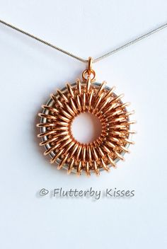 My very own design/creation!!!! Sunburst Chainmaille Pendant by FlutterbyKissis on Etsy, $55.00