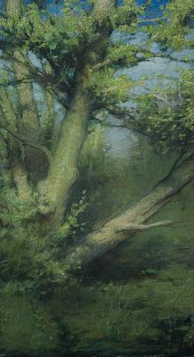 edge of the forest ~ oil on panel ~ by charles weed