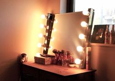 Treat yourself with a vanity worthy of any dressing room.