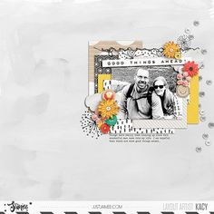Good Things Ahead! Digital scrapbook layout using Better Days Ahead collab by Just Jaimee and Valorie Wibbens