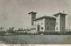 El Castillo de Bofarull o Torre de los Sres de Bofarull en el Paseo de Extremadura en 1910. Desaparecido en la Guerra Civil.