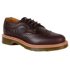 Dr. Martens Womens Shoes 1461 Wing Tip Coffee Smooth Clearance  Color: Coffee  Material: Smooth