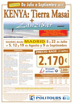 KENYA: Tierra Masai + Zanzíbar, sal. 8/07 al 9/09 desde Madrid (11d/9n) p.f. 2.800€ - http://zocotours.com/kenya-tierra-masai-zanzibar-sal-807-al-909-desde-madrid-11d9n-p-f-2-800e-2/