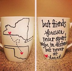Super cute mug to give or send to your Internet best friend!