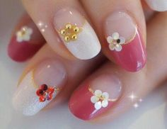 30 ideas which nail polish to choose - My Nails Love Nails, Pink Nails, My Nails, Nail Tip Designs, Natural Gel Nails, Sunflower Nails, Classic Nails, Japanese Nail Art, Flower Nail Art