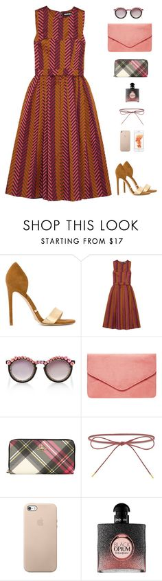 """""""House of Holland-Pleated Chevron Jacquard Dress"""" by sol4nge ❤ liked on Polyvore featuring Gianni Renzi, House of Holland, Frēda Banana, Dorothy Perkins, Vivienne Westwood, Elizabeth and James and Yves Saint Laurent"""