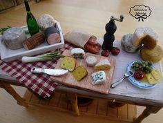 Miniature Dollhouse Cheese Buffet Table. €49.00, via Etsy.