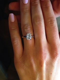 1.91-Carat Radiant Cut Diamond in a Ritani Cathedral Solitaire Engagement Ring   #RitaniPinterest