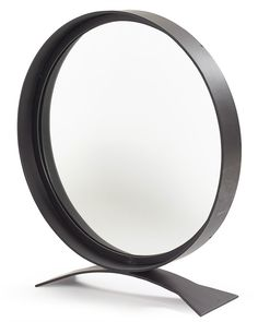 Round Black Table Top Mirror H:68cm