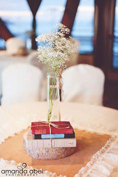 Wedding table centerpiece Amanda Abel Photography
