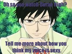 """What's sad is that I read this with his voice """"narrating"""" it. GET OUT OF MY MIND KYOYA-SENPAI!!!!!!!"""