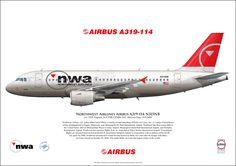 Northwest Airlines Airbus A319-114