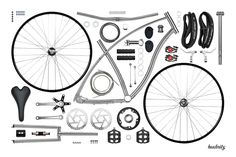 Budnitz Bicycles Model No.1 Titanium Disassembled