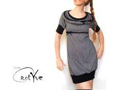 Ballonkleider - ♥ dornhella ♥ ballon - kleid mit kapuze - ein Designerstück von RotYve_Mode bei DaWanda