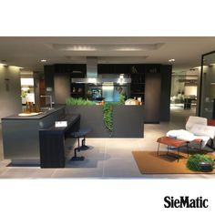Presented at SieMatic Forum 2015: Urban style in dark hues with stainless steel contrast, and space for greenery.