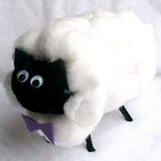 DIY CRAFT ** Toilet paper rolls ** baaaaaaa toilet roll sheep