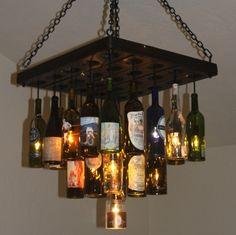 wine bottle chandeliers | Sommelier - Wine Bottle Chandelier