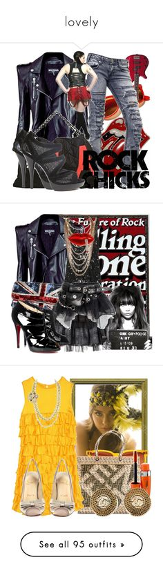 """""""lovely"""" by lisamarie8403 ❤ liked on Polyvore featuring Linda Farrow, Yamaha, Balmain, Denim of Virtue, Chanel, Fendi, denin, leather jacket, rock and roll and Monsoon"""