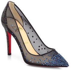 Christian Louboutin Body Strass Spotlight Pumps (79.890 RUB) ❤ liked on Polyvore featuring shoes, pumps, heels, christian louboutin, louboutin, christian louboutin pumps, evening pumps, blue heel pumps, star pumps and transparent pumps