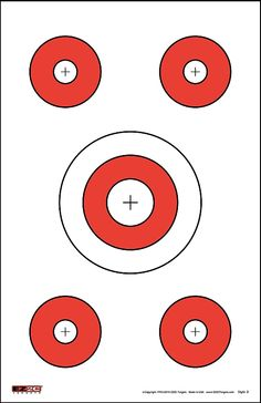 These Paper Targets are the most-popular style with five targets per sheet. Shop Paper Targets for multiple styles of paper targets. Shop our catalog of Paper Targets Shooting Club, Shooting Range, Route 66 Sign, Paper Targets, Rifle Targets, Take Aim, Shooting Targets, Target Practice, Air Rifle