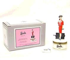 Barbie Busy Gal Porcelain Hinged Box Midwest NIB #Midwest