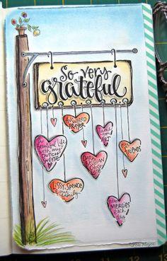 eine weitere Seite aus Lori Vliegens Journal. Ein Traum!