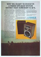Fisher ST461 Speakers 1978 Ad Picture