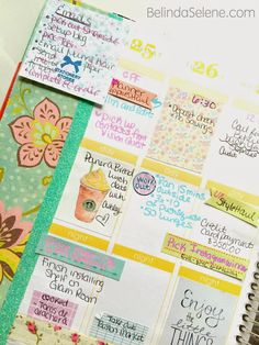 Belinda Selene: How I Decorate and Organize My Erin Condren Life Planner #eclifeplanner