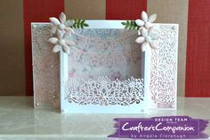 Diorama Card made using Crafter's Companion Die'sire Fancy Edge'ables - Art Deco Flower. Designed by Angela Clerehugh #crafterscompanion