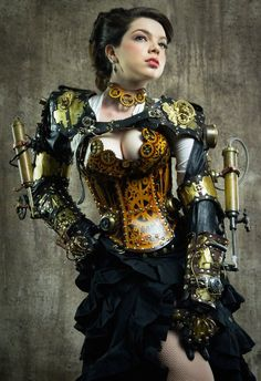 Steampunk its more than an aesthetic style, it's the longing for the past that never was. In Steampunk Girls we display professional pictures, and illustrations of Steampunk, Dieselpunk and other anachronistic 'punks. Some cosplay too! Moda Steampunk, Steampunk Couture, Steampunk Kunst, Chat Steampunk, Style Steampunk, Gothic Steampunk, Steampunk Fashion, Victorian Gothic, Gothic Lolita