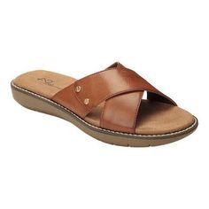 Women's A2 by Aerosoles Cool Breeze Slide Sandal Dark Faux Leather