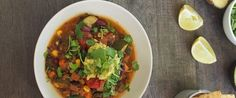 Fast fabulous bean chilli with lime and avocado – recipe courtesy of Caroline Trickey, Accredited Practising Dietitian
