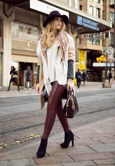 #leatherpants #streetstyle