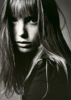 A young Jane Birkin, of which the Hermes Birkin bag was named after.