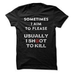 #birthday #funny #science... Nice T-shirts  Sometimes I Aim To Please - Funny T…