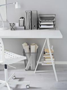 DOKUMENT prullenmand   IKEA IKEAnl IKEAnederland LINNMON bureau schragen bureaus werkplek werkplekken studeren werken kantoor studeerkamer werkkamer wit SKÅLBERG / SPORREN bureaustoel inspiratie wooninspiratie interieur wooninterieur accessoires decoratie accessoire