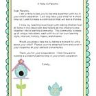 This letter was created to send home at the beginning of the year to welcome parents and gain background information on their child.  The file incl...