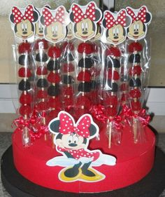 Minnie, #Minnie Minnie Mouse Birthday Decorations, Minnie Mouse Theme Party, Fiesta Mickey Mouse, Mickey Mouse Baby Shower, Mickey Mouse 1st Birthday, Red Minnie Mouse, Mickey Mouse Parties, Mickey Party, Mickey Decorations