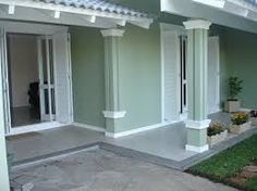 fachadas de casas color verde - Buscar con Google