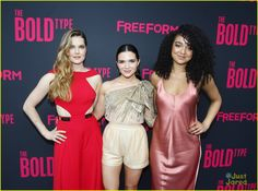 Meghann Fahy, Katie Stevens and Aisha Dee at 'Bold Type' Premiere