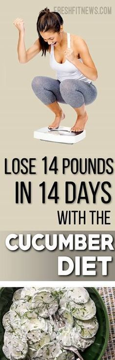 Lose 14 Pounds In 14 Days With The Cucumber Diet | Fitness Blog